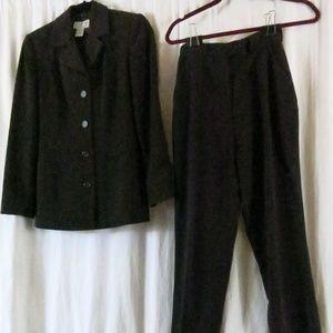 INC International concepts Pant Suit 2 Brown
